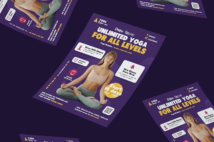 Yoga Online Flyer