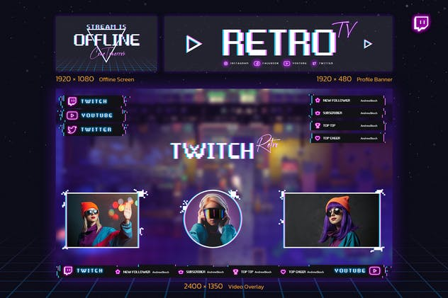 Retro Gaming Twitch Kit