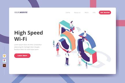 High Speed Wi-Fi - Landing Page