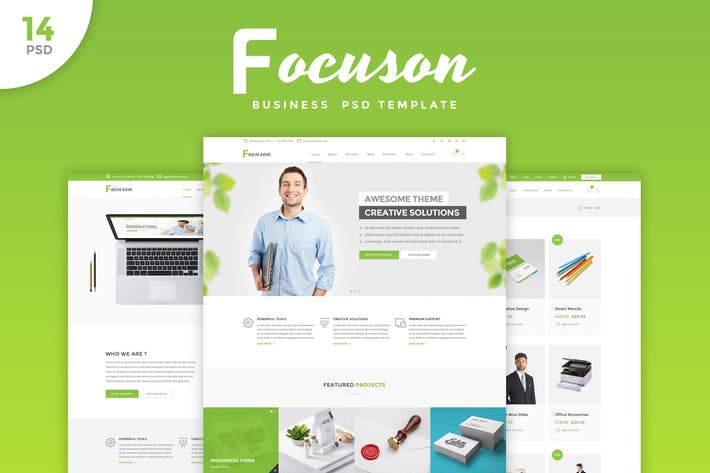 Cover Image For Focuson - Business PSD Template