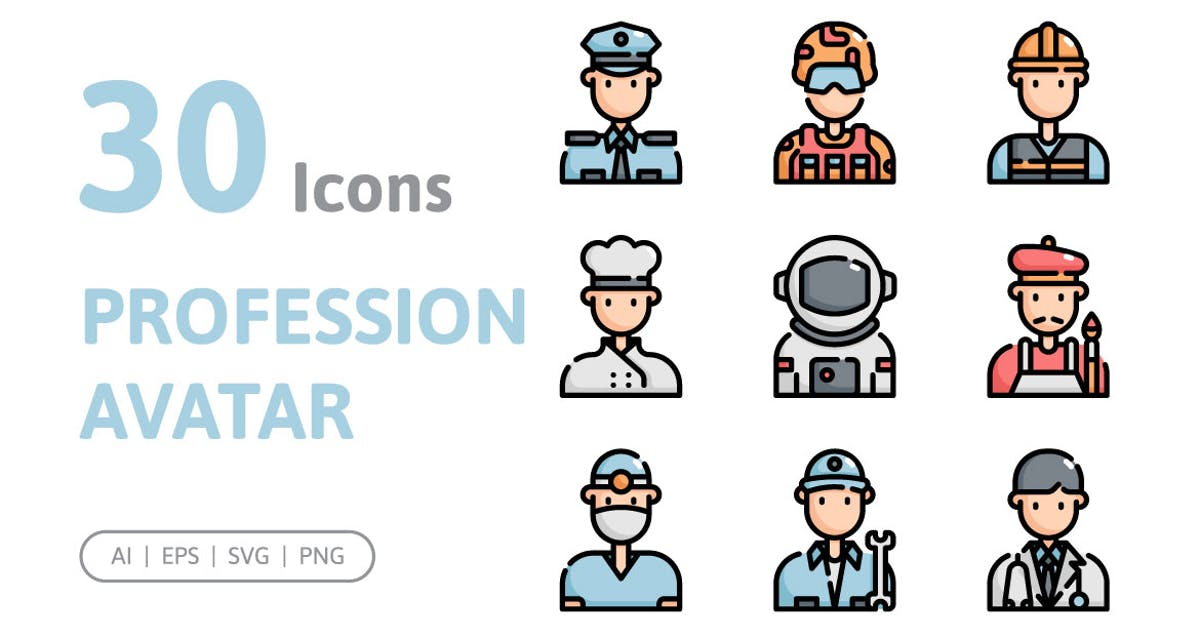 Download 30 Profession Avatar Icons by konkapp