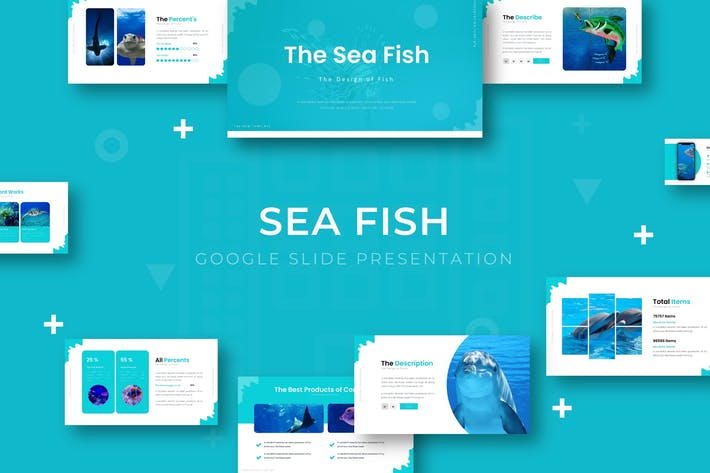 Thumbnail for Sea Fish - Google Slide Template