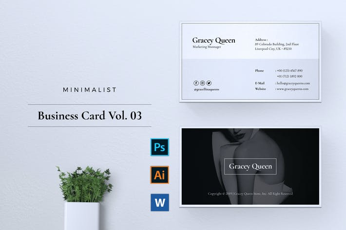 Thumbnail for Minimalist Business Card Vol. 03