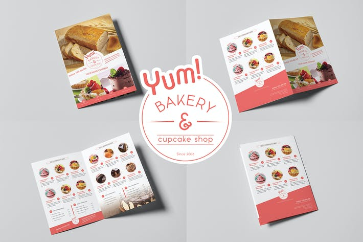 Thumbnail for Bakery & Cupcake Shop - Menu Template