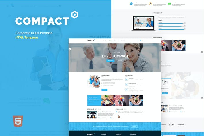 Thumbnail for Compact - Corporate Multi-Purpose HTML Template