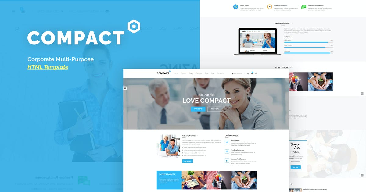 Download Compact - Corporate Multi-Purpose HTML Template by ThemeModern