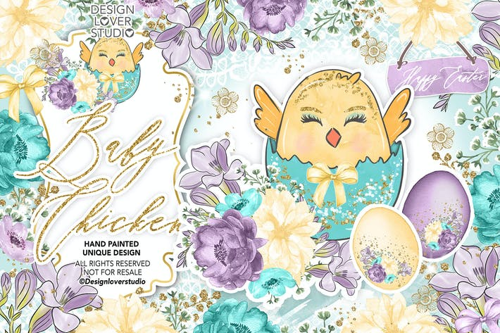 Thumbnail for Baby Chicken Easter design