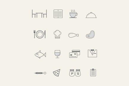 16 Restaurant Icons