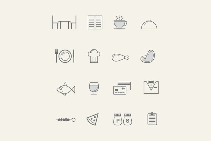Thumbnail for 16 Restaurant Icons