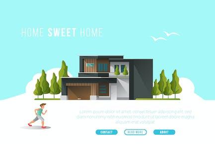 Página de inicio Sweet Página de inicio - Horizontal Vector y construcción