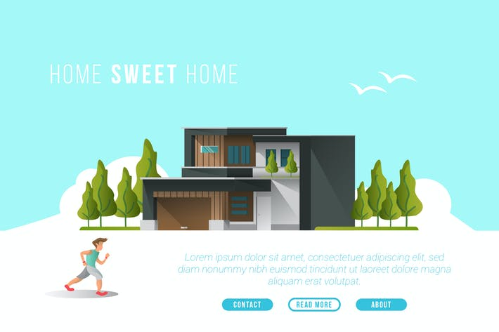 Thumbnail for Home Sweet Home - Vector Landscape & Building