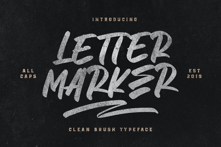 Thumbnail for Letter Marker - Clean Brush Typefac