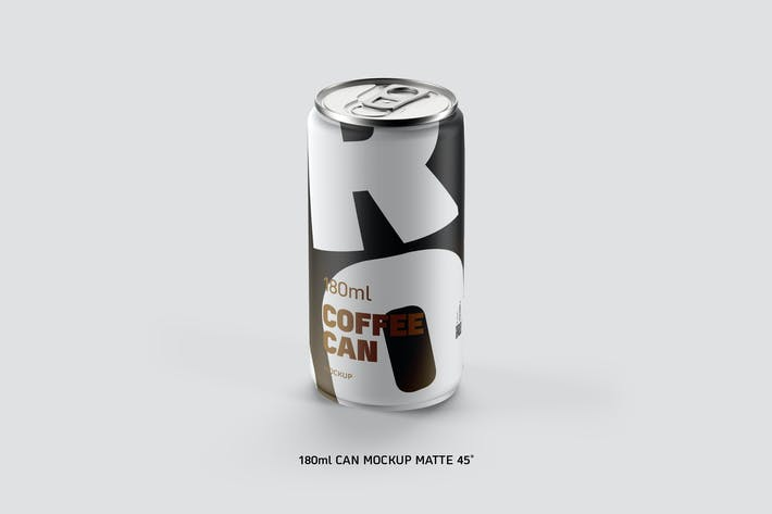 Thumbnail for Coffee Can w/n Bottom Cap 180ml Matte 45˚