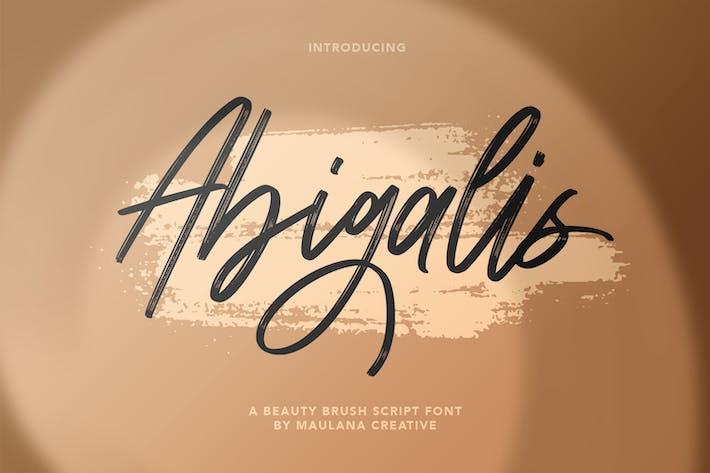 Fuente de escritura de pincel de belleza Abigasis
