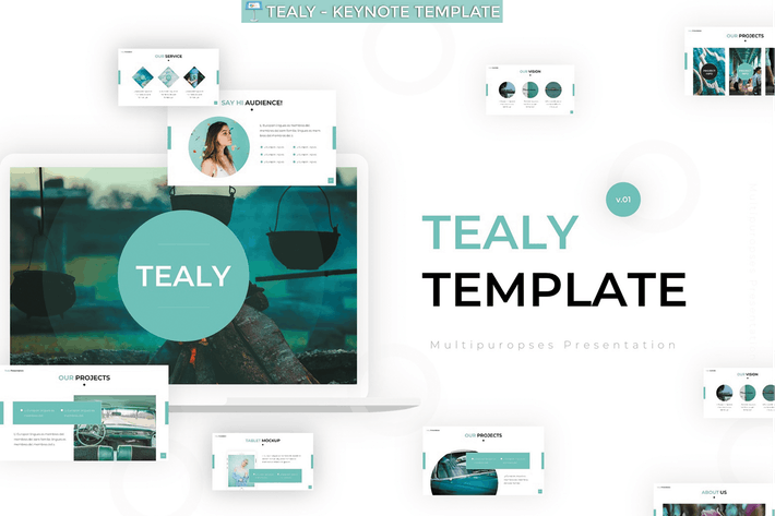 Thumbnail for Tealy - Keynote Vorlage