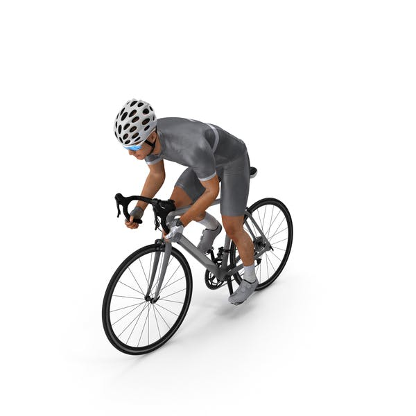 Bicyclist Riding Bike
