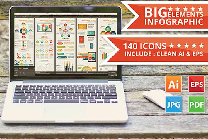 Thumbnail for Big Infographic Elements Design
