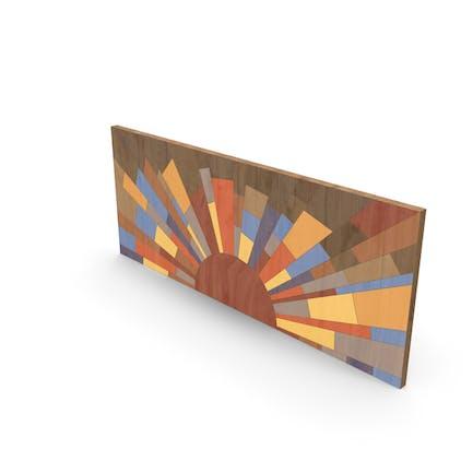 Holzmalerei Wandkunst