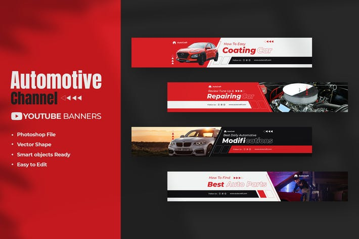 Automotive Youtube Banners