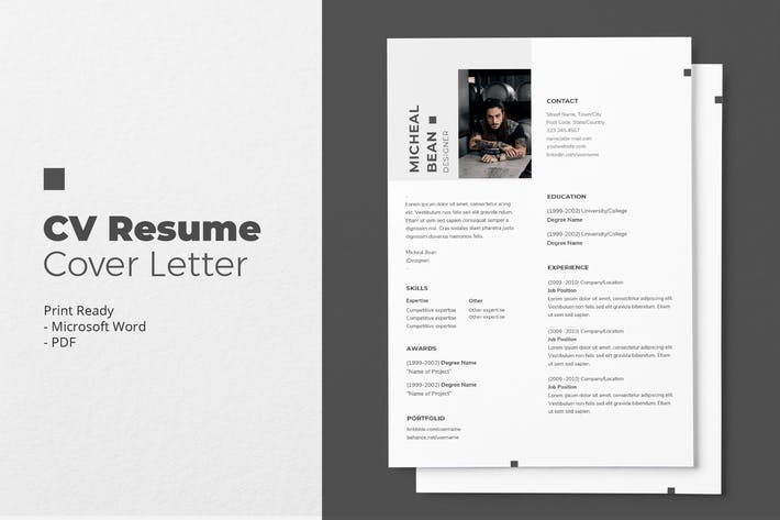 Thumbnail for Micheal Bean - CV Resume Template