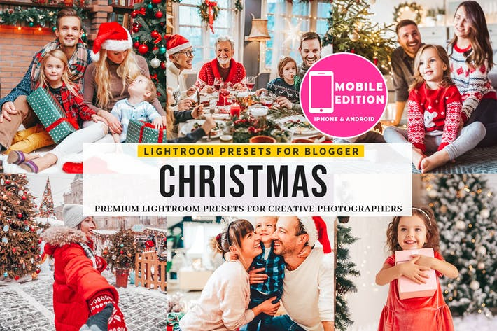 Thumbnail for Christmas Lightroom Presets