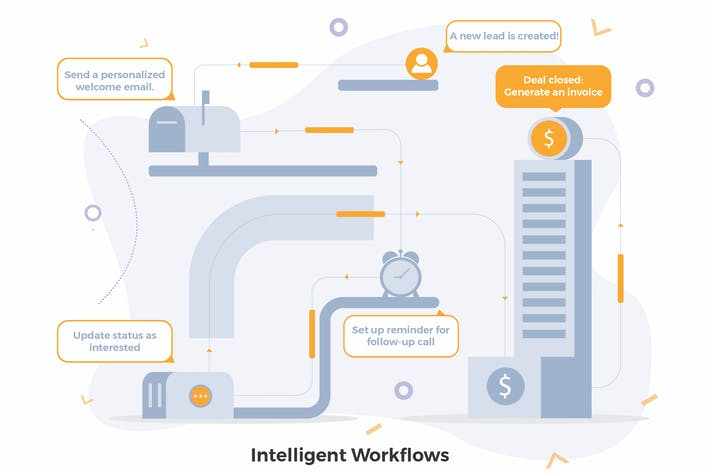 Cover Image For Workflows CRM Illustrations