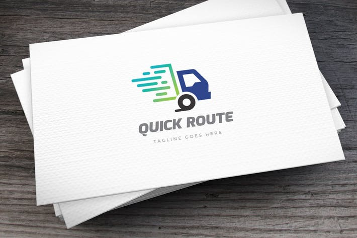 Thumbnail for Quick Route Logo Template