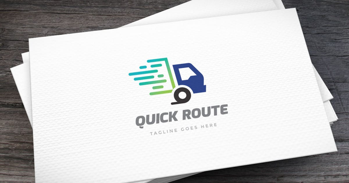 Download Quick Route Logo Template by empativo