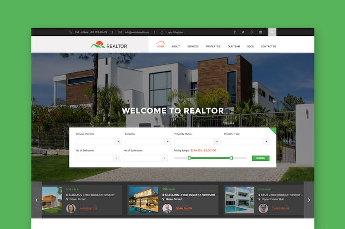 Thumbnail for Realtor - Real Estate PSD Template