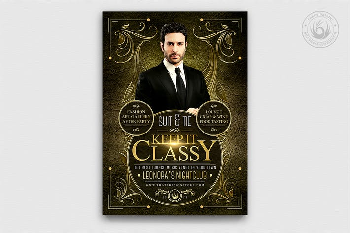 Thumbnail for Suit and Tie Flyer Template V2