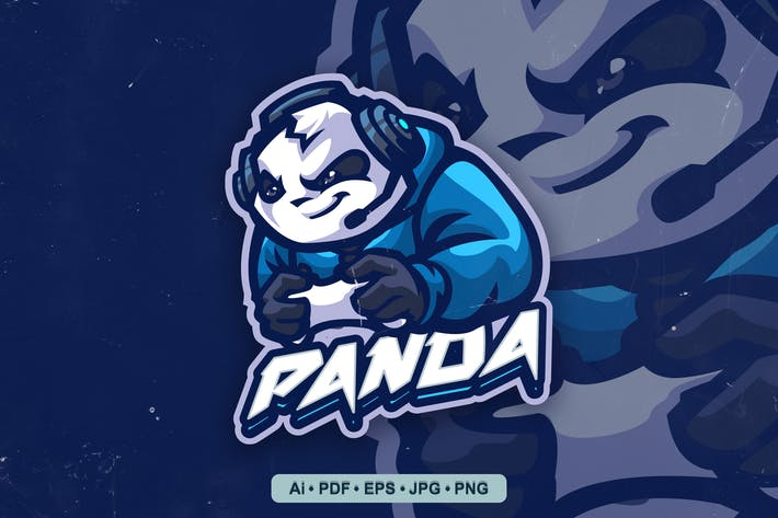 Thumbnail for Panda Gaming Logo template for eSport and Sport