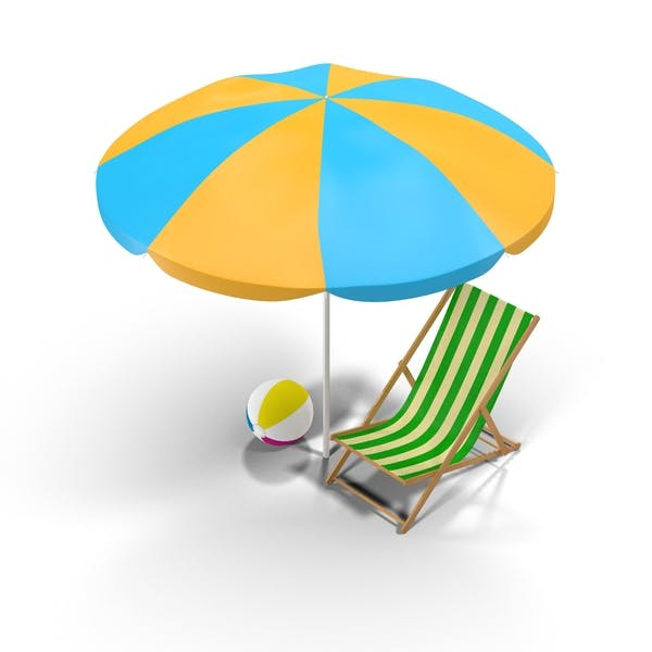 Cover Image for Beach Chair and Umbrella