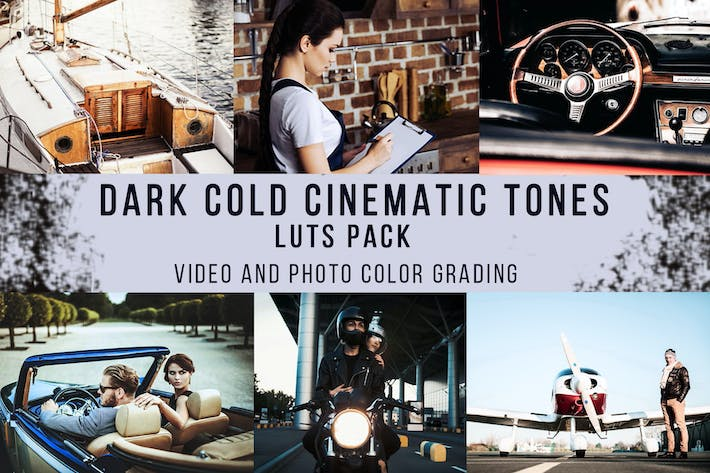 Thumbnail for Dark Cold Cinematic Tones | LUTs Pack