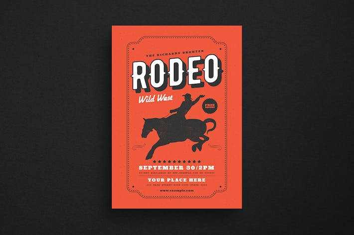 Thumbnail for VIntage Country Rodeo Event Flyer