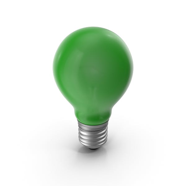 Lightbulb Green Glossy
