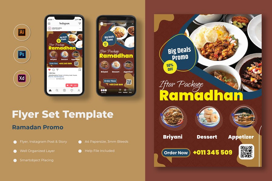 Ramadan Promo Flyer Set