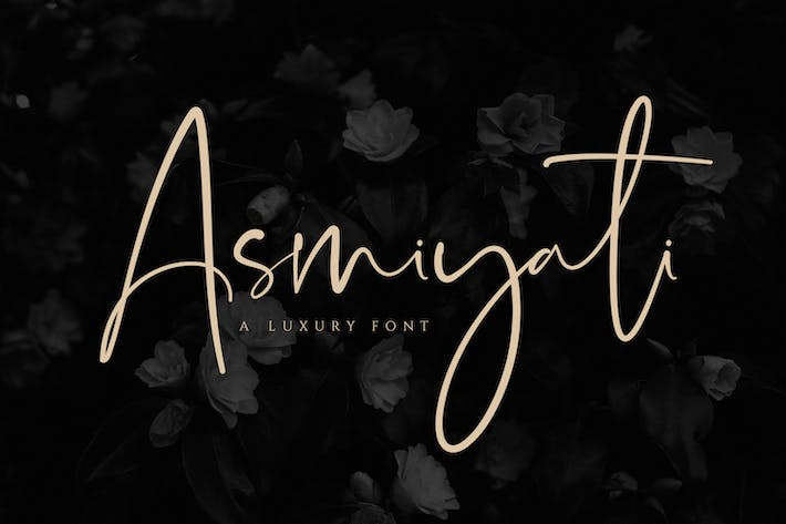 Cover Image For Asmiyati | A Luxury Script Font