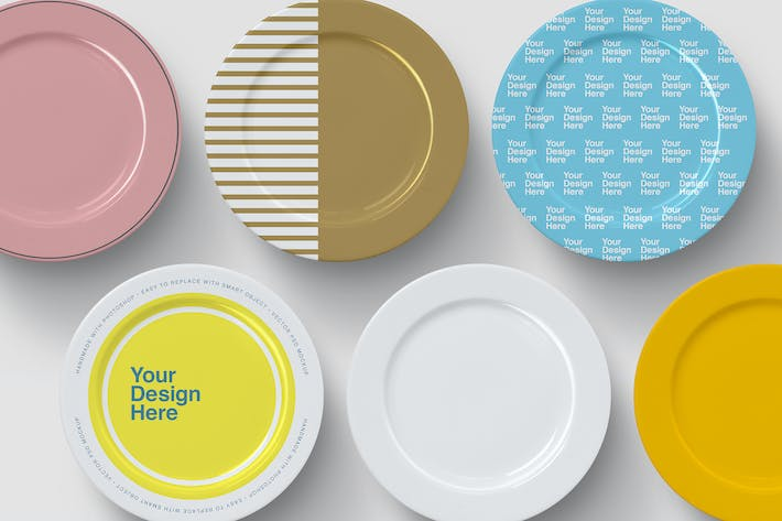 Dinner Plates Mockup - Top View