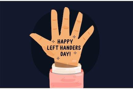 Left Hander's Day Illustration