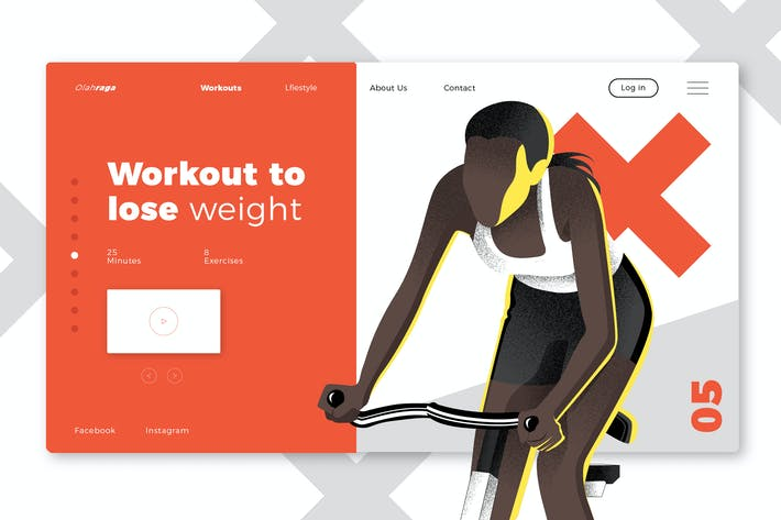 Thumbnail for Gyms & Sport Club Banner & Landing Page