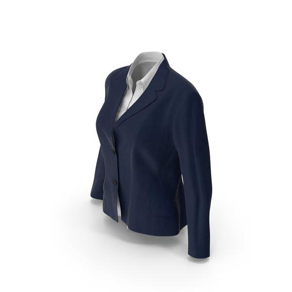 Женская куртка рубашка синий