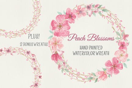 Wreath of Peach Blossoms