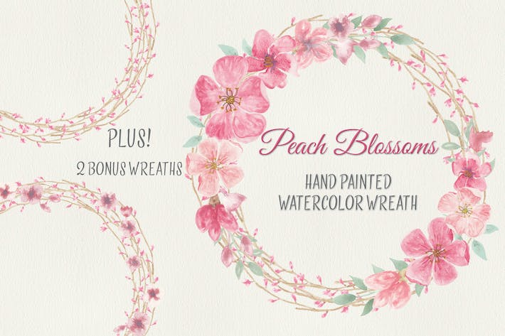 Thumbnail for Wreath of Peach Blossoms