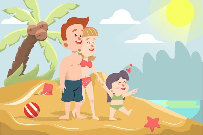 Thumbnail for Sommerurlaub - Vektor illustration