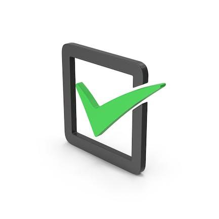 Symbol Check Box Green