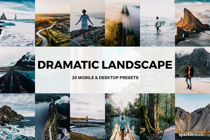 Thumbnail for 20 Dramatic Landscape Lightroom Presets and LUTs