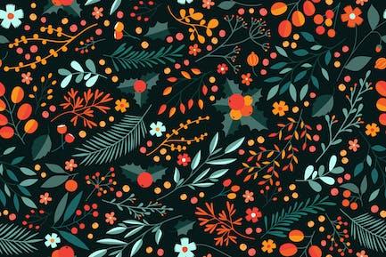 Winter Floral Pattern