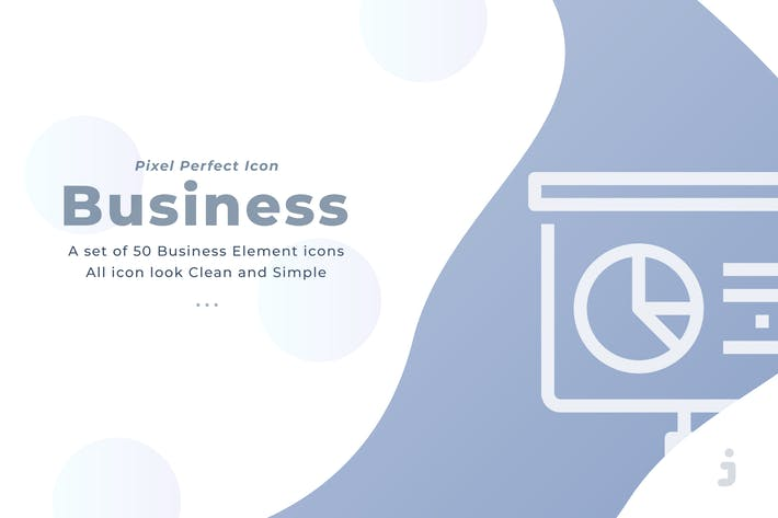 Thumbnail for 50 Business element icons