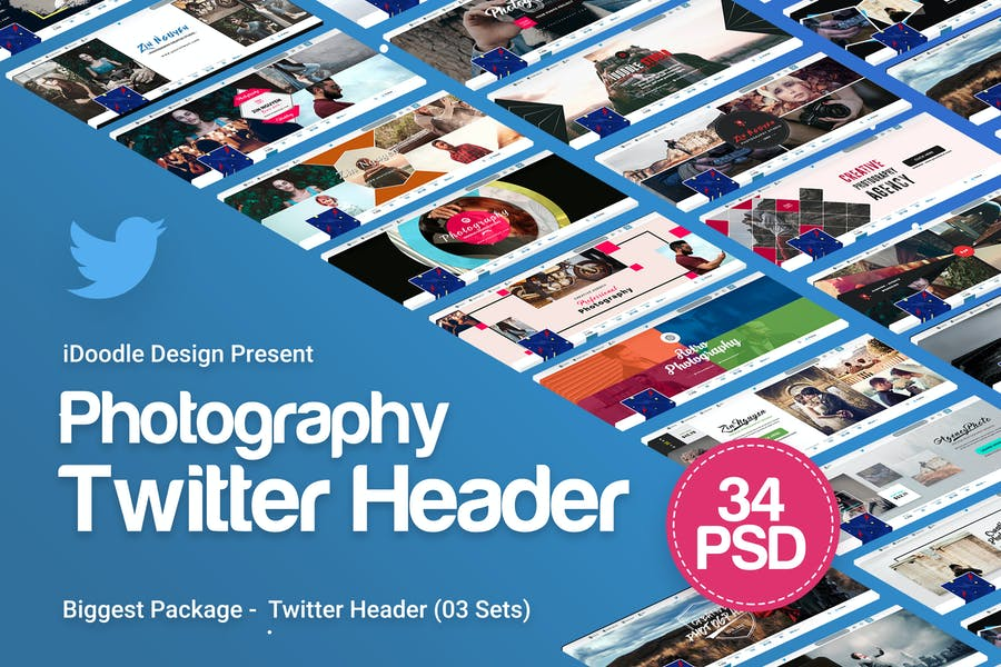 Photography Twitter Headers - 34 PSD