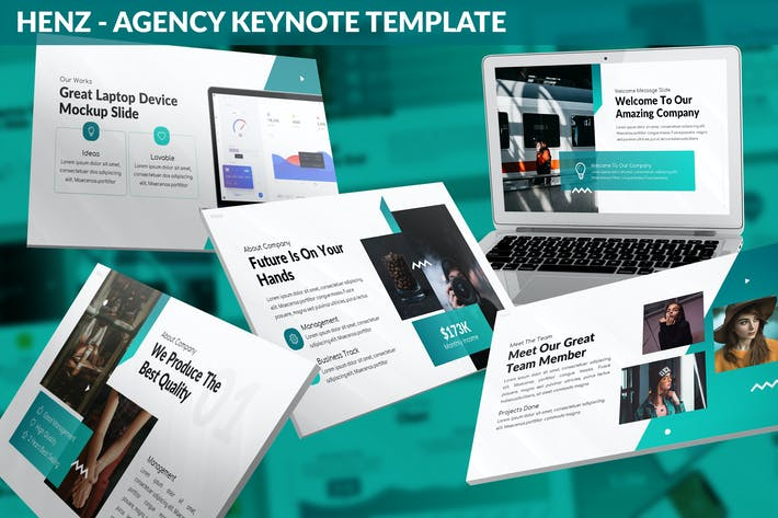 Thumbnail for Henz - Agency Keynote Template